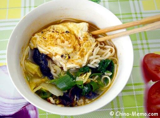 Chinese Egg Veggie Noodle