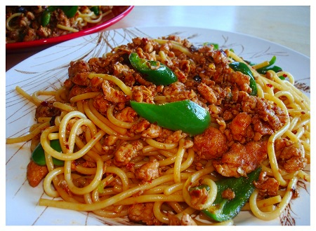 Chinese Food Recipe: Sichuan Style Chicken Noodle.