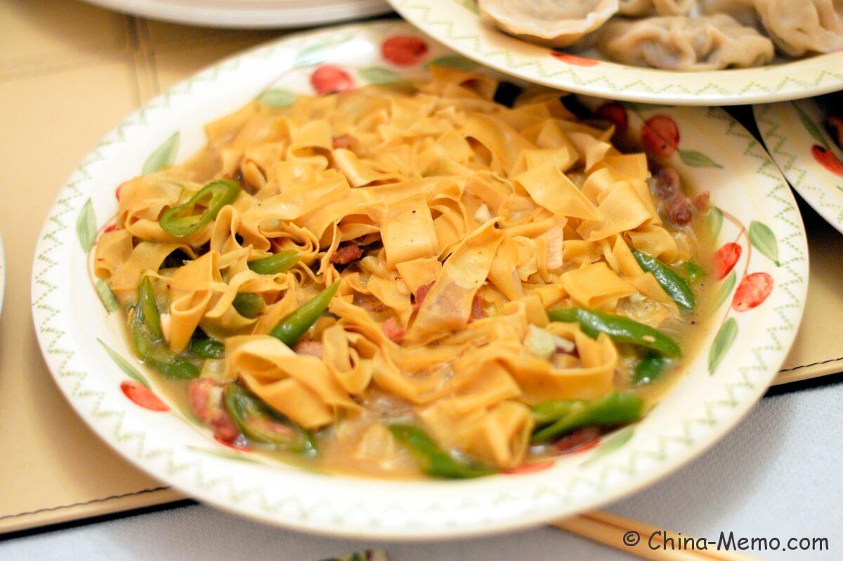 Chinese Dry Tofu Skin with Green Chili