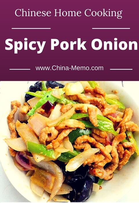 Chinese Spicy Pork Onion Recipe