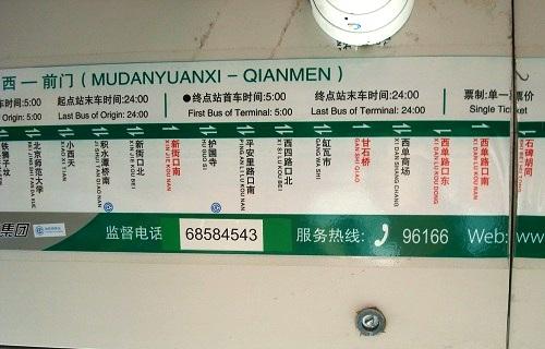 Beijing Bus Stops.