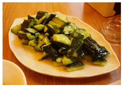 Beijing Smacked Cucumbers with Garlics.