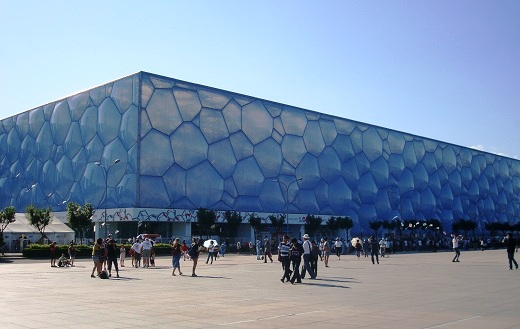 The Water Cube (Beijing National Aquatics Center).