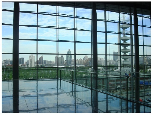 Beijing skyline see from China National Convention Centre.