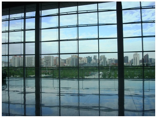 Beijing Skyline View via China National Convention Center.