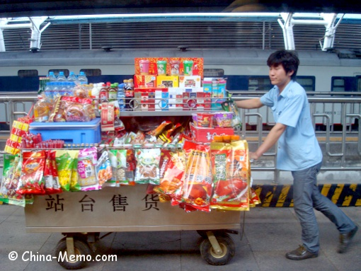 Food Cart at China Train Station Platform