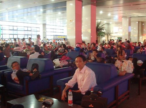 Beijing Sleeper Train Waiting Area