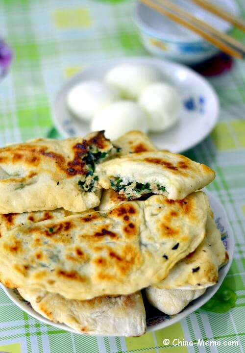 Chinese Breakfast Pork Chive Pancakes by Pressure Cooker