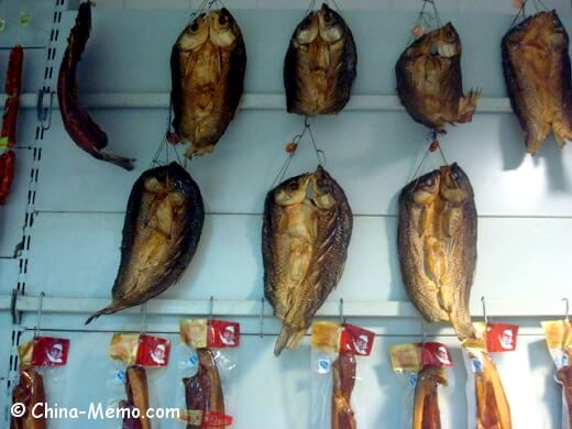 Chuna Huna Preserved Meat in Market
