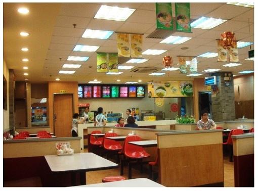 China Hunan Dumpling Restaurant Layout.