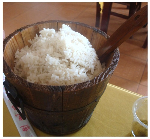 China Hunan Farmhouse Steamed Rice.