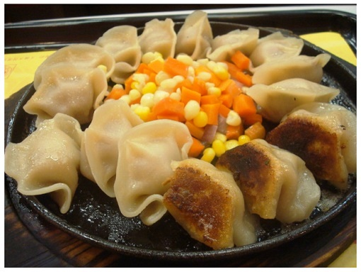 China Hunan Iron Plate Fried Dumplings.