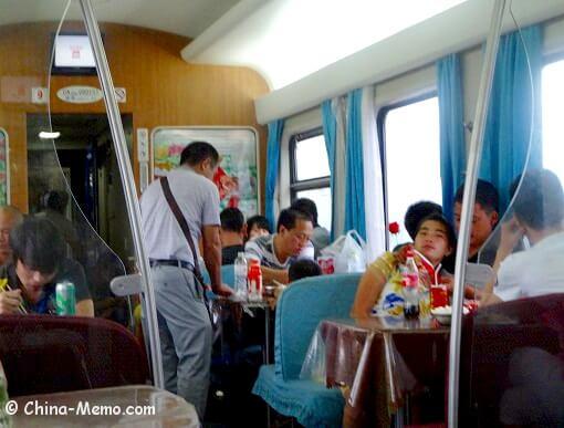China Train Dining Car