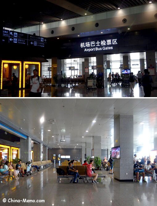 China Xian Aiprort Bus Waiting Area.