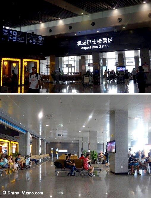 China Xian Aiprort Bus Waiting Area.