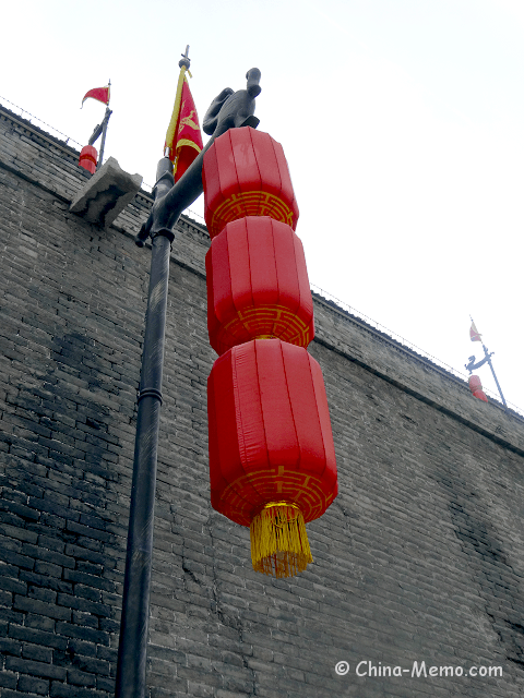 China Xi'an City Wall Lanterns.