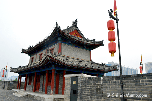 China Xian City Wall Tower
