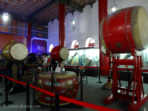 The drum museum inside Drum Tower.