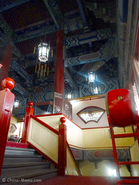 China Xian Drum Tower Stairs.