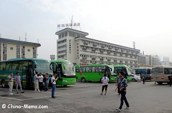 bus to Terracotta Army