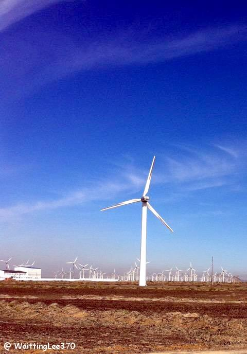 The Wind Turbine in Xinjiang China.