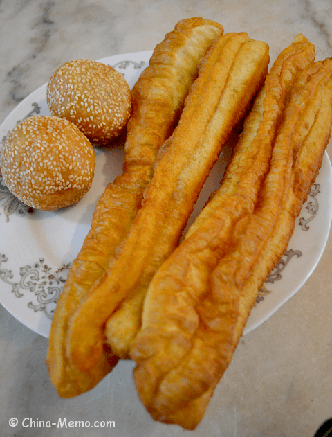 Chinese Breakfast Fried Dough Sticks & Rice Balls