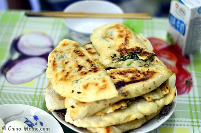 Chinese Breakfast Pork Chive Pancakes by Pressure Cooker.