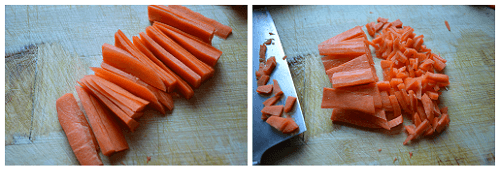 Chinese Carrots Cut.