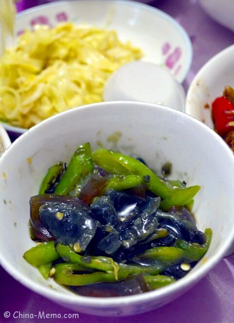 Chinese Century Egg & Green Chilli Cold Dish