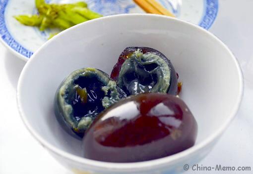 Chinese Century Egg with Green Chili