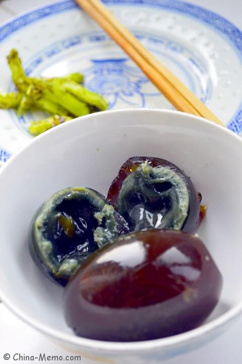 Chinese black egg? The name is Chinese Century Egg.