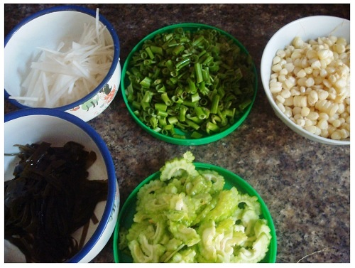 Chinese Daily Food Vegetables.