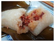 Chinese Duanwu Festival Food: Zongzi (Rice Dumpling).