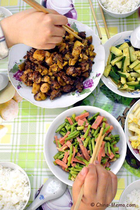 Chinese Duck with Potato, Huaishan, Chestnuts and Baihe