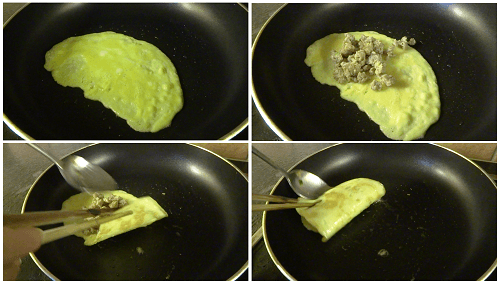 Chinese Egg Dumpling Method.