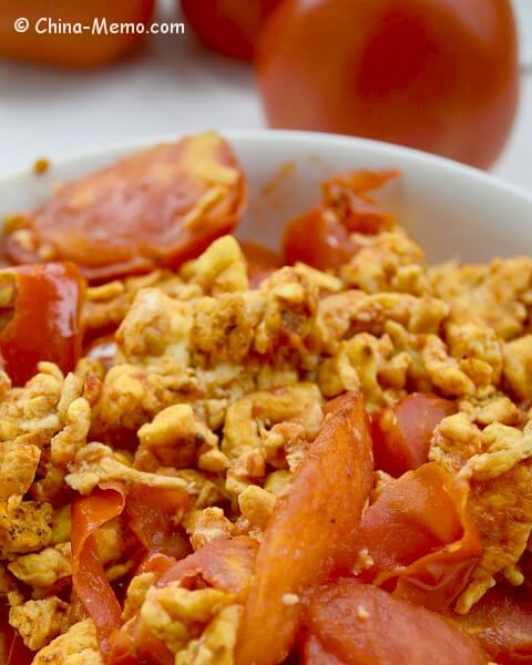 Chinese Egg Fried Tomatoes