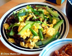 Chinese Egg Fried Cucumbers