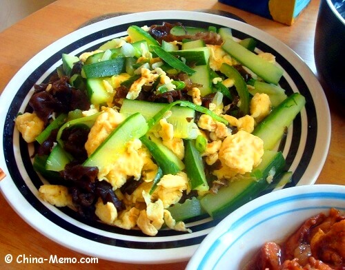 Chinese Egg Fried Cucumbers.