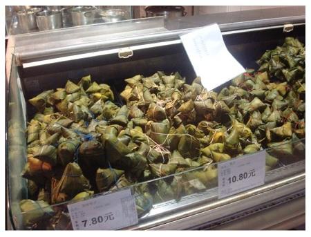 Popular Duanwu Festival Food Rice Dumpling in supermarket.