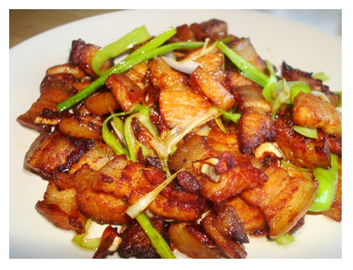 Chinese Twice Cooked Pork Belly.