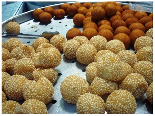 Chinese Food Sesame Glutinous Rice Balls.