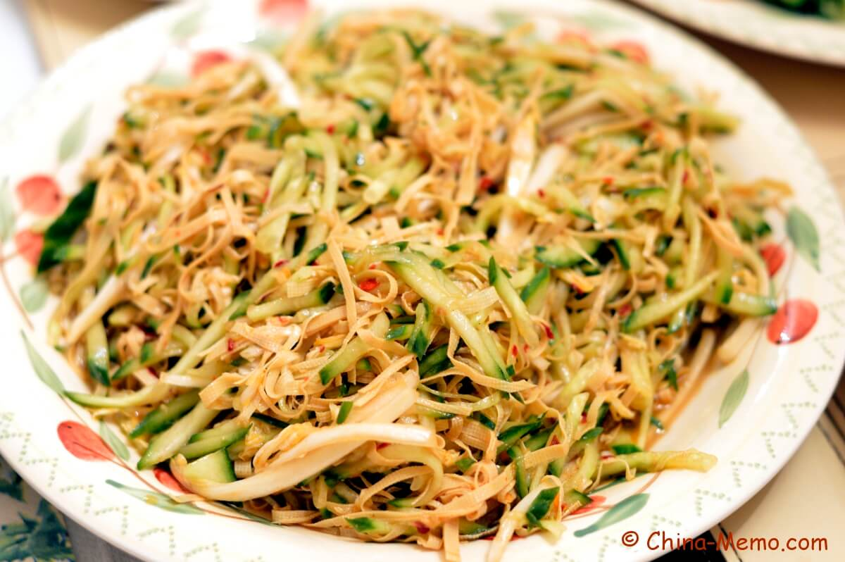 Chinese Salad by Courgette and Tofu Skins