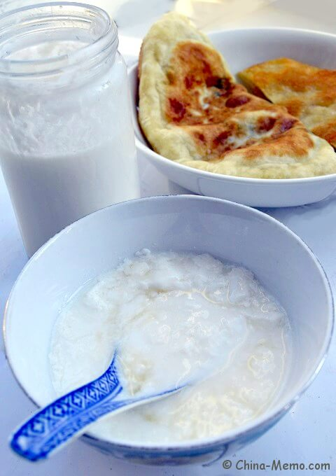 Chinese Homemade Yogurt and Jian Bing