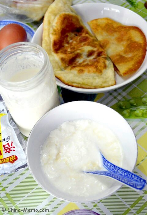 Chinese Homemade Yogurt and Breakfast