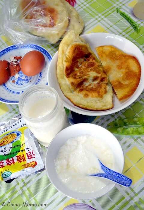 Chinese Homemade Yogurt and Chinese Breakfast