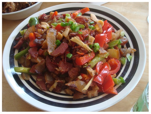 Chinese Hunan Preserved Pork with Veg.