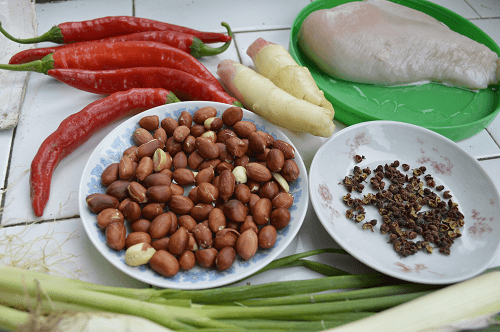 Chinese Home Cooking Kong Bao Chicken Ingredients.