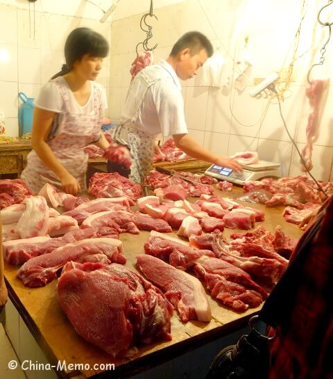 China Local Food Market Butchers