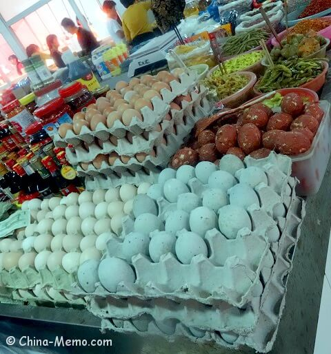 China Local Food Market Eggs