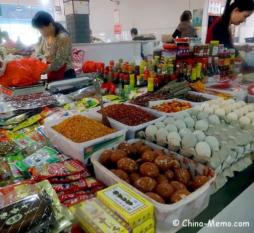 China Local Food Market Ingredients